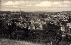 Postcard Waibstadt im Rhein Neckar Kreis, Totalansicht der Stadt, Kirche