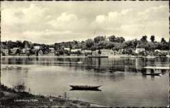Postcard Lauenburg an der Elbe, Flusspartie, Ruderboote