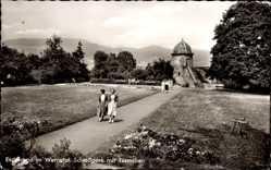 Postcard Eschwege im Werra Meißner Kreis, Schlosspark mit Türmchen