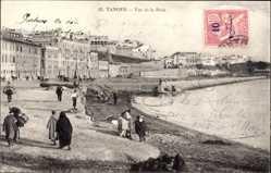 Postcard Tanger Marokko, Vue de la Rade, Strandpartie, Anwohner