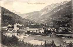 Ak Landeck Tirol Österreich, Parseiergruppe, Panorama vom Ort, Kirche