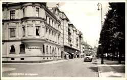 Postcard Landskrona Schweden, Järnvägsgatan, Straßenpartie