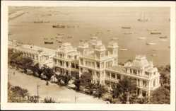 Postcard A Coruña Galicien, Avenida de la Marina y Kioscos