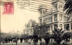Postcard A Coruña Galicien, La Terraza, Terrassen, Palmenallee