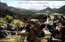 Postcard Bad Aussee Steiermark Österreich, Panorama mit dem Todten Gebirge