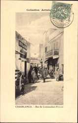 Postcard Casablanca Marokko, Rue du Commandant Prévost