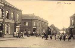Postcard Carvin Pas de Calais, Rue de Lille, Straßenpartie, Épicerie Corbin