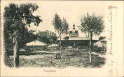 Postcard Mexiko Stadt, Chapultepec, Terrassen, Grünanlagen, Pavillon