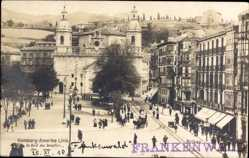 Postcard Bilbao Baskenland, Marktplatz, Hamburg Amerika Linie