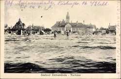 Ak Świnoujście Swinemünde Pommern, Kurhaus, Seebad, Strand