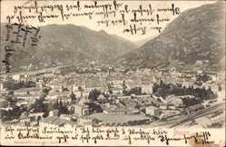 Ak Bolzano Bozen Trentino Südtirol, Panorama der Stadt, Gleise