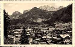 Postcard Lofer Salzburg, Panorama gegen das Reitergebirge