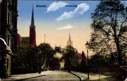 Ak Wrocław Breslau Schlesien, Blick über die Dombrücke