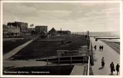 Postcard Norderney in Ostfriesland, Strandpromenade, Meer, Häuser, Tennisplatz