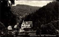 Postcard Meuselbach Schwarzmühle im Schwarzatal, Blick auf Hotel Waldfrieden