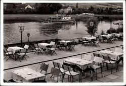 Postcard Lauenförde in Niedersachsen, Hotel zur Weser, Hans Hagen