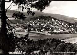 Postcard Eversberg Meschede Sauerland, Panoramablick auf den Ort