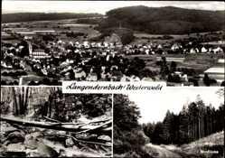 Postcard Langendernbach Dornburg Westerwald, Totalansicht, Holzbachschlucht, Windlücke