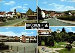 Postcard Brücken i.d. Pfalz, Straßenpartien, Miniatur Golfplatz