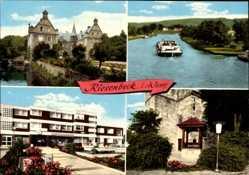 Postcard Riesenbeck Hörstel im Tecklenburger Land, Kreissparkasse, Brunnen