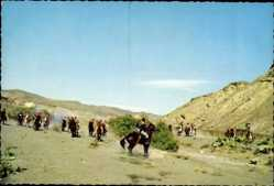 Postcard Filmszene aus Der Letzte Mohikaner, J.F. Coopers Lederstrumpf