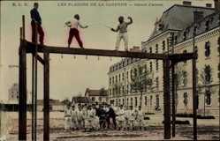 Ak Les Plaisirs de la Caserne, Assaut d'armes, Fechtkampf, Franz. Soldaten