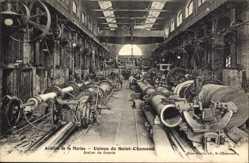 Postcard Saint Chamond Loire, Acieries de la Marine, Usines, Atelier de forerie