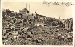 Postcard Cairo Kairo Ägypten, Blick auf den Ort mit Mohammed Ali Moschee