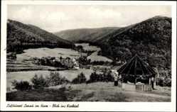 Postcard Lonau Herzberg am Harz in Niedersachsen, Blick ins Kirchtal
