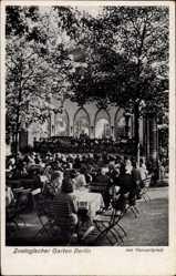 Postcard Berlin Tiergarten, Zoologischer Garten, Konzertplatz