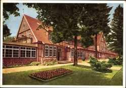 Postcard Jesteburg im Kreis Harburg, Waldsanatorium Rüsselkäfer, Fachwerkhaus
