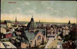 Judaika Ak Dortmund im Ruhrgebiet, Ansicht der Innenstadt, Synagoge