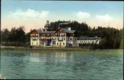 Postcard Prien am Chiemsee Oberbayern, Kurhaus am Chiemsee, Besitzer Marklstätter
