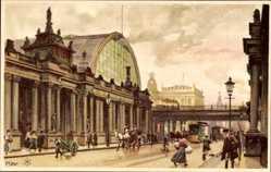 Künstler Litho Kley, Heinrich, Berlin Mitte, Kolonnaden Königstr, Alexanderplatz