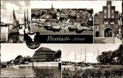 Postcard Neustadt in Holstein, Segelschiffe, Hafen, Torborgen