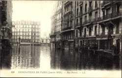 Postcard Paris Frankreich, Inondations de Paris, Rue Parrot, 1910