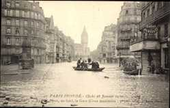 Postcard Paris Frankreich, Les Inondations, Rue de Lyon, la Gare, au fond, 1910