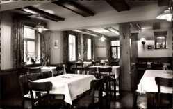 Postcard Hahnenklee Bockswiese Goslar, Berggasthaus Zum Auerhahn, Inneres
