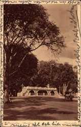 Postcard Weltevreden Jakarta Indonesien, Sluisbrug, Schleusenbrücke