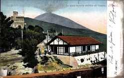 Postcard Napoli Neapel Campania, La nuova ferrovia elettrica sul Vesuvio, Vesuv