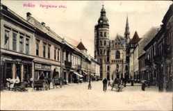 Postcard Košice Kassa Kaschau Slowakei, Forgacova Ulica, Straßenpartie