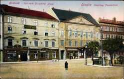 Postcard Olomouc Olmütz Stadt, Oberring, Theaterlinie, Divadelna strana