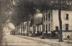 Postcard Saint Étienne Loire, Societe Cotonniere H. Geliot, Creche, Economat, Bureaux