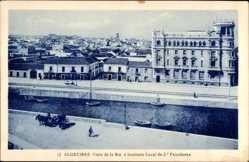 Postcard Algeciras Andalusien, Vista de la Ria e Instituto Local de 2a Fnsenanza