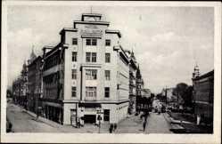 Postcard Olomouc Olmütz Stadt, Straßenpartie mit Blick auf Hotel Palace