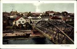 Postcard Ostrava Polnisch Ostrau Reg. Mährisch Schlesien, Blick auf den Ort, Brücke