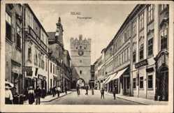 Postcard Jihlava Iglau Region Hochland, Blick in die Frauengasse, Tor, Alois Nessl