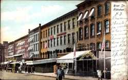 Postcard Hoboken New Jersey United States of America, River Street, Columbia Bar,Wines