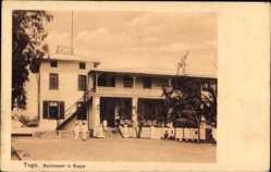 Postcard Seppe Togo, Straßenpartie mit Blick auf das Bezirksamt, Fassade
