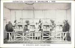 Ak Bruxelles Brüssel, M. Ehrlichs Baby Incubators, Weltausstellung 1935